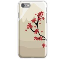 Maple Tree In The Shadow Of A Mountain, Japan (Artwork) iPhone Case/Skin