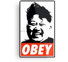 Kim Jong Un OBEY Metal Print