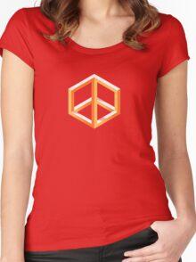 Peace in Escher Women's Fitted Scoop T-Shirt