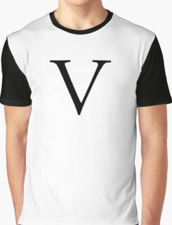 V, Alphabet Letter, Vee, Victoria, Vincent, Victor, A to Z, 22nd Letter of Alphabet, Initial, Name, Letters, Tag, Nick Name Graphic T-Shirt