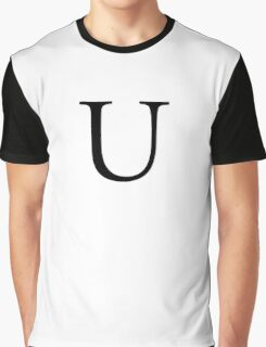 U, Alphabet Letter, Uniform, Union, A to Z, 21st Letter of Alphabet, Initial, Name, Letters, Tag, Nick Name Graphic T-Shirt