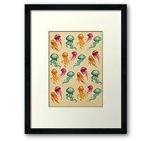 JellyFish, tan Framed Print
