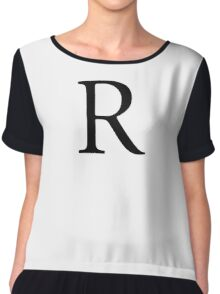 R, Alphabet Letter, Romeo, Roger, A to Z, 18th Letter of Alphabet, Initial, Name, Letters, Tag, Nick Name Chiffon Top