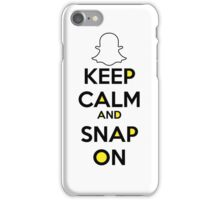 Keep Calm And Snap On iPhone Case/Skin