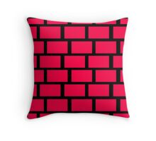 Red Brick Wall Pattern Throw Pillow