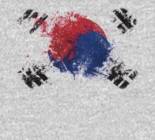 korean flag brush One Piece - Short Sleeve