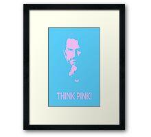 Think Pink  - Steve Jobs  re-loa-dead (reload) Framed Print