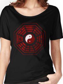 Yin Yang Red Pangua Women's Relaxed Fit T-Shirt