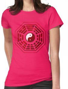 Yin Yang Red Pangua Womens Fitted T-Shirt