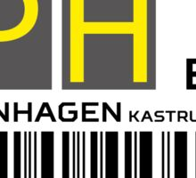 Destination Copenhagen Airport Sticker