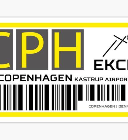 Destination Copenhagen Airport Sticker
