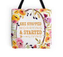 Start Living Tote Bag