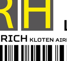 Destination Zurich Airport Sticker