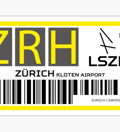 Destination Zurich Airport Sticker