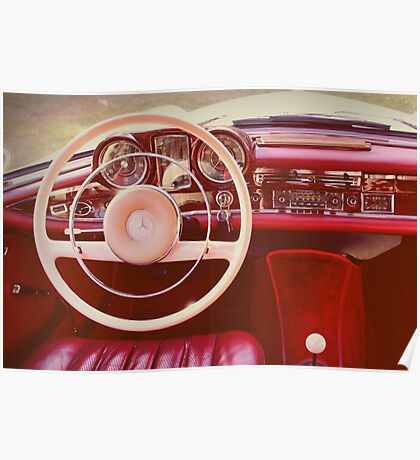 Mercedes 220SE Coupe Poster