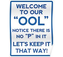 Funny Swimming Pool Sign Poster