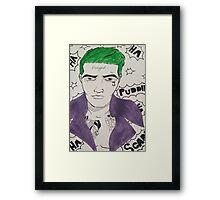 Pop Art Joker Framed Print