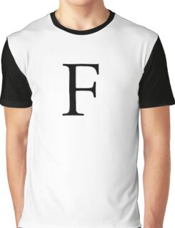 F, Alphabet Letter, ef, EFF, Foxtrot, Frank, A to Z, 6th Letter of Alphabet, Initial, Name, Letters, Tag, Nick Name Graphic T-Shirt