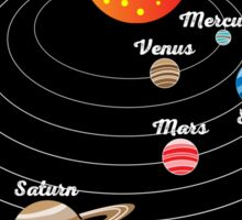 Solar System for Kids Sticker
