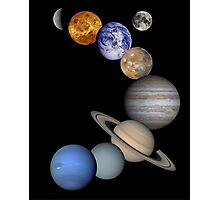 The Solar System, Aligned Planets (Photographs) Photographic Print