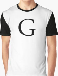 G, Alphabet Letter, Gee, Golf, George, A to Z, 7th Letter of Alphabet, Initial, Name, Letters, Tag, Nick Name Graphic T-Shirt