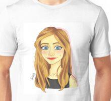 Smiling Blue Eyed Girl  Unisex T-Shirt