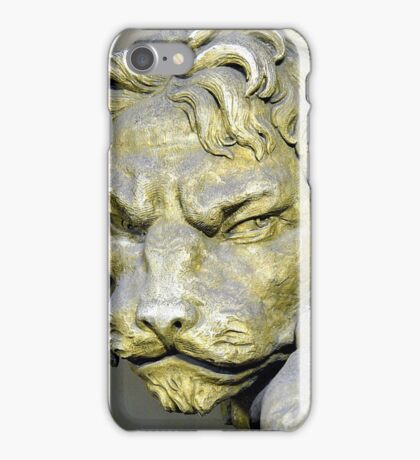Lion head sculpture, Barrage Vauban, Strabsourg, France iPhone Case/Skin