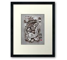 Traditional Nekobasu Variant Framed Print
