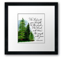 Strength and peace inspirational verses Framed Print