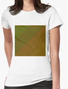 Psychedelic optical shoegaze lines - Autumn Womens Fitted T-Shirt