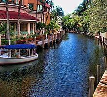 The Tour Boat in the Canal Las Olas by GolemAura