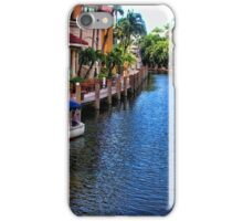 The Tour Boat in the Canal Las Olas iPhone Case/Skin