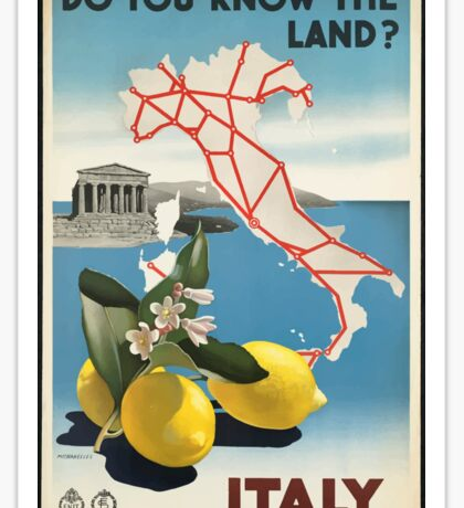 Vintage Travel Poster, Italy Sticker