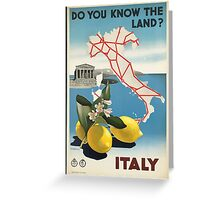 Vintage Travel Poster, Italy Greeting Card