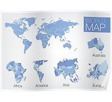 World Map Illustration Poster