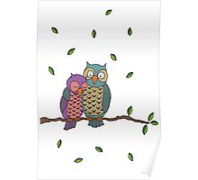 Blue Owls Poster