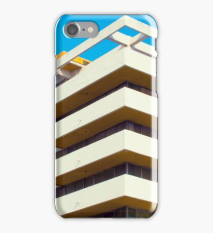 Apartment building and blue sky iPhone Case/Skin