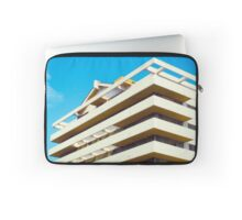 Apartment building and blue sky Laptop Sleeve