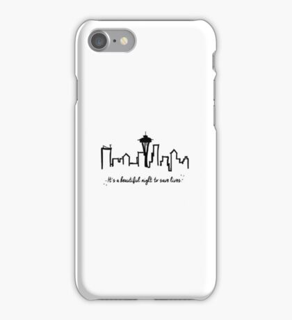 """Grey's Anatomy """"It's a beautiful night to save lives"""" iPhone Case/Skin"""