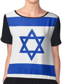 National flag of the State of Israel - high quality authentic file Chiffon Top