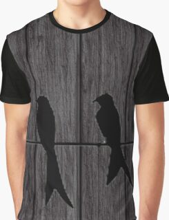birds on a wire Graphic T-Shirt
