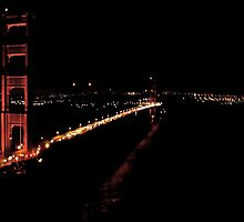 Golden Gate At Night From Marin  by Scott Johnson