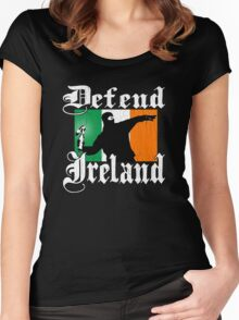 Defend Ireland (Vintage Distressed Design) Women's Fitted Scoop T-Shirt