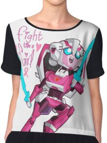 Fight like a Girl Chiffon Top