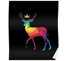 The Crowned Stag T-shirt Poster