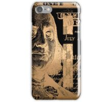 One Hundred US Dollar Bill - $100 USD in Gold on Black iPhone Case/Skin