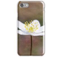 Single Wood Anemone iPhone Case/Skin