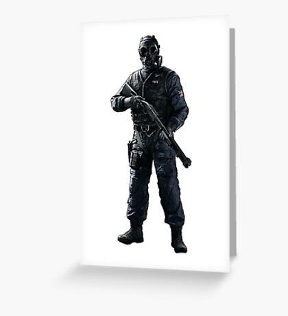 Thatcher Rainbow 6 Siege - full Greeting Card