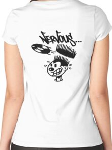 Nervous Records Women's Fitted Scoop T-Shirt