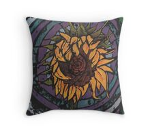 Batik Sunflower Throw Pillow